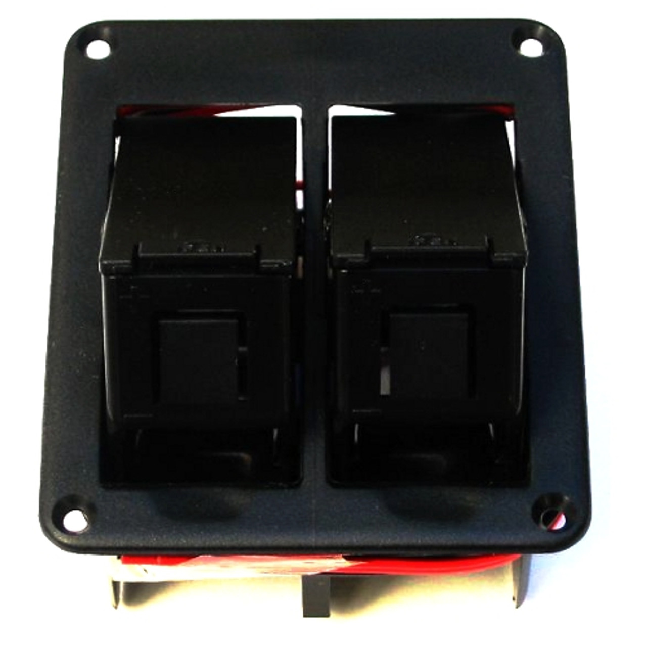 Dual Battery Box Front View Open