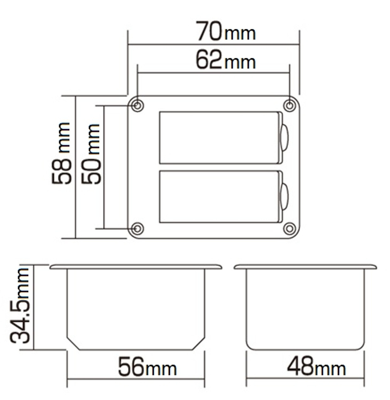 Dual Battery Box Battery Dimensions