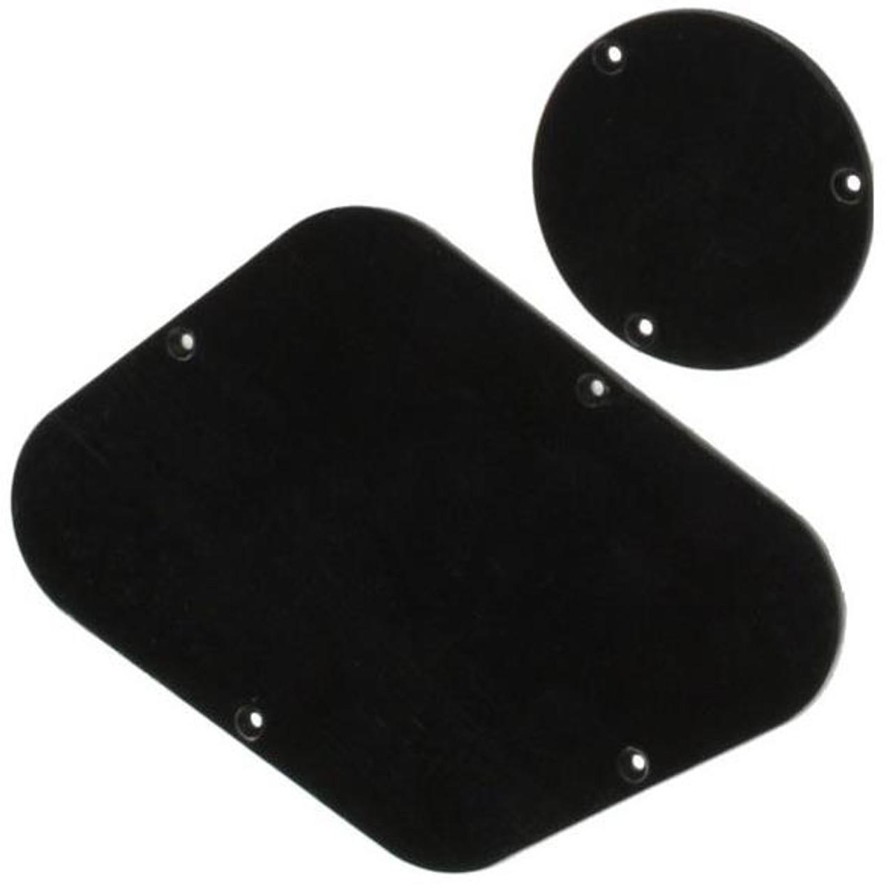 Les Paul Back Plate & Switch Cover Set-Black