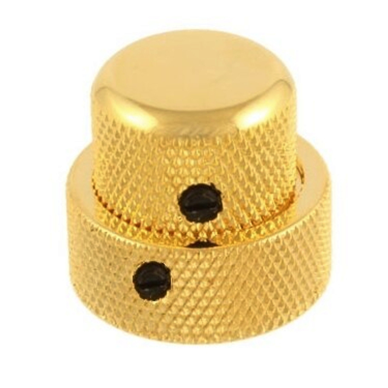 Stacked Metal Dome Knob Set for Guitar & Bass-Gold