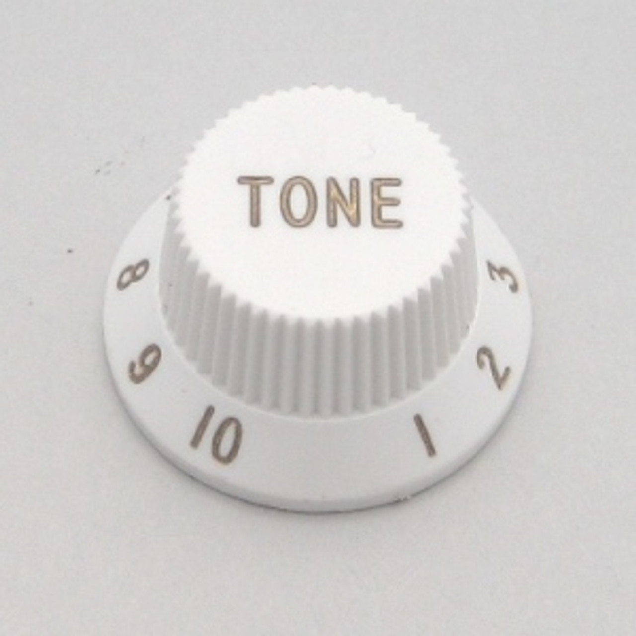 Strat & J-Bass Style Tone Knob w/ Coarse Splines-White