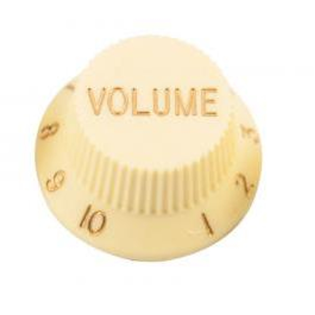 Strat & J-Bass Style Volume Knob w/ Fine Splines-Cream