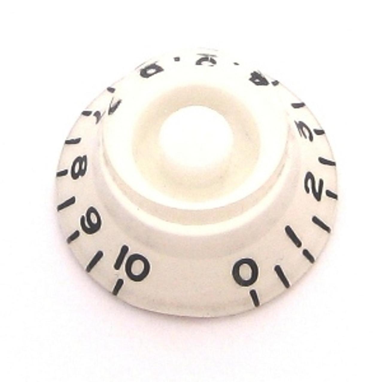 Bell Knob w/ Coarse Splines-White