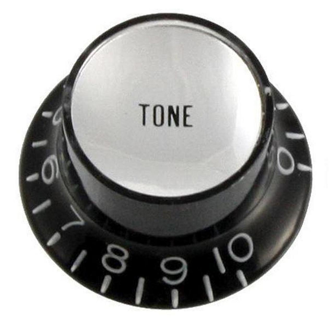 Reflector Cap Tone Knob with Fine Splines-Black