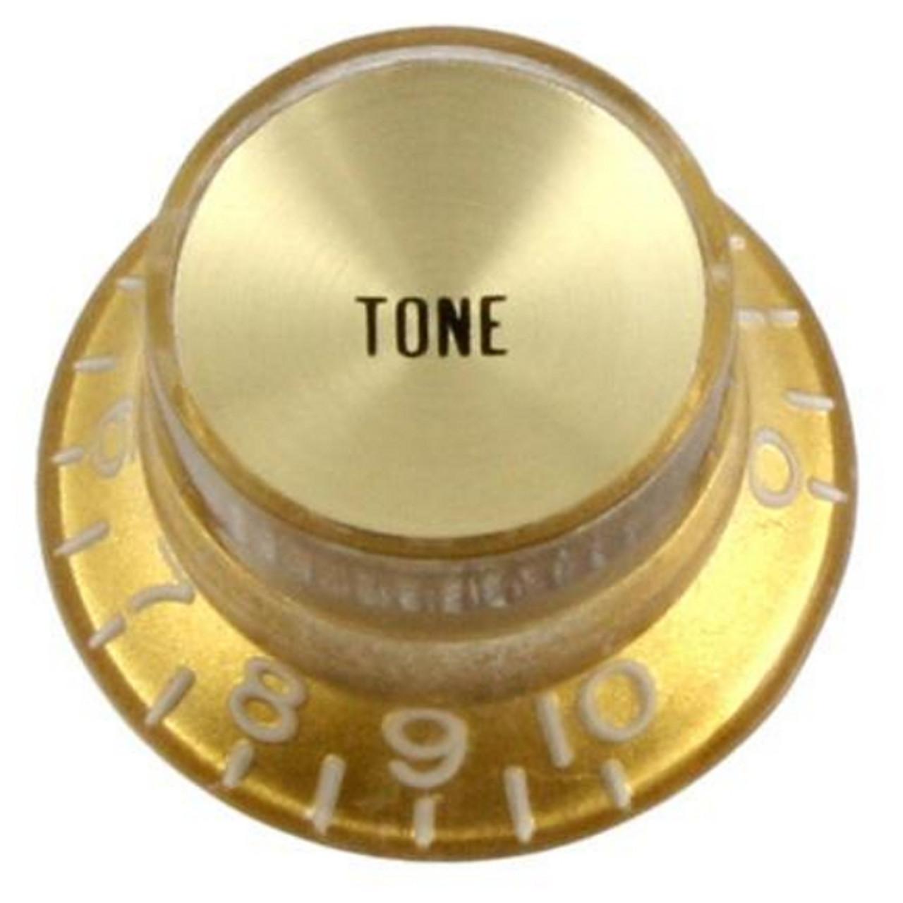 Reflector Cap Tone Knob with Fine Splines-Gold