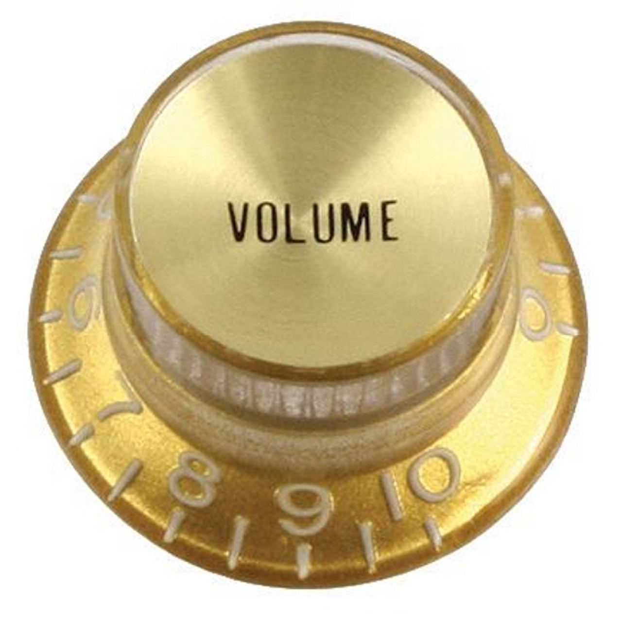 Reflector Cap Volume Knob with Fine Splines-Gold