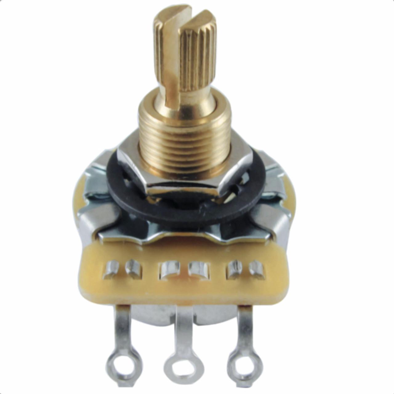 CTS 250K No Load/Blender Pro Guitar Pot w/ Brass Shaft