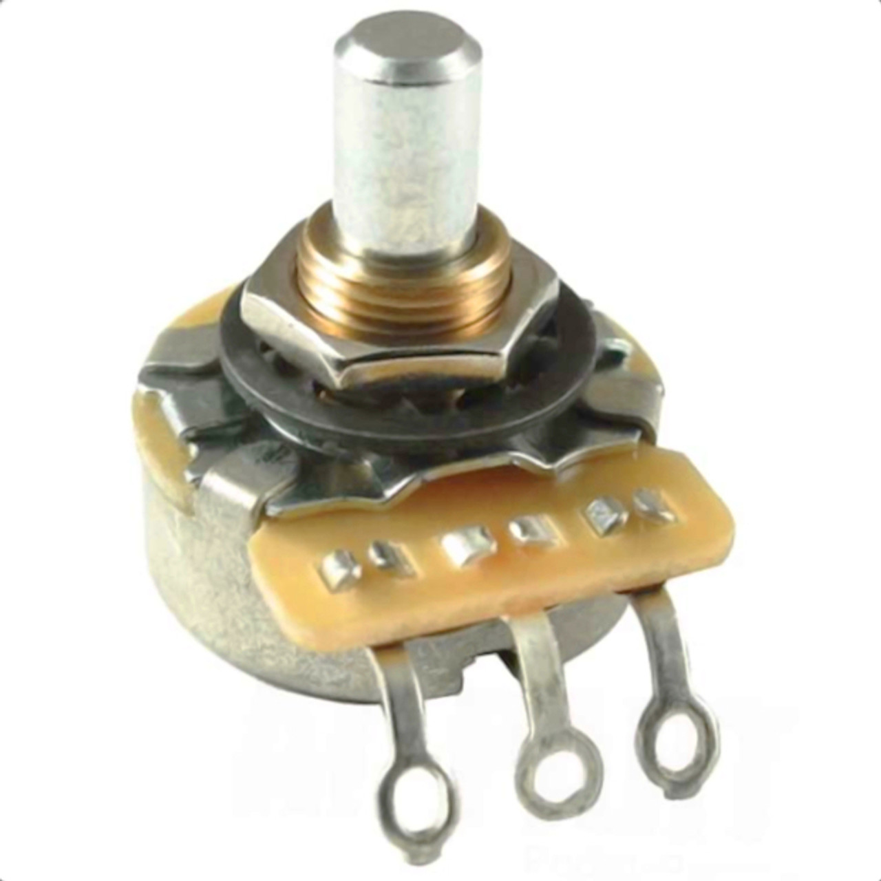 CTS 250K Audio Taper Guitar Pot w/ Solid Shaft