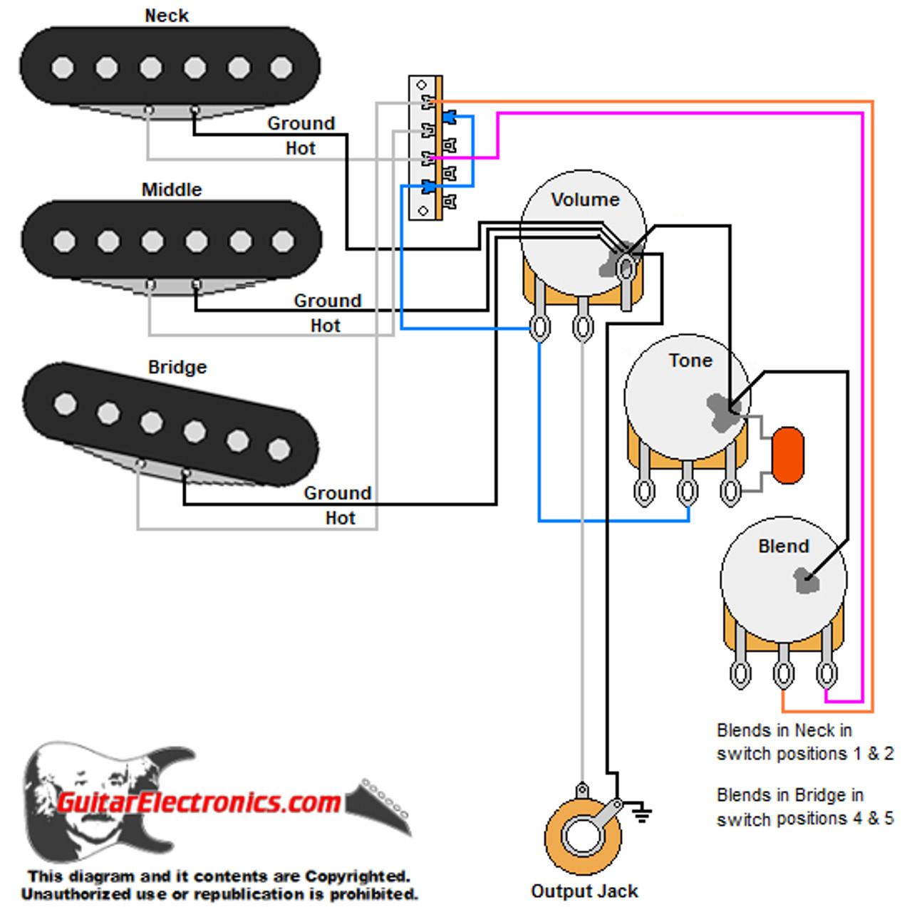 CTS 500K No-Load Guitar Tone Pot | Guitar Wiring Diagrams 500k Tone Pots |  | Guitar Electronics