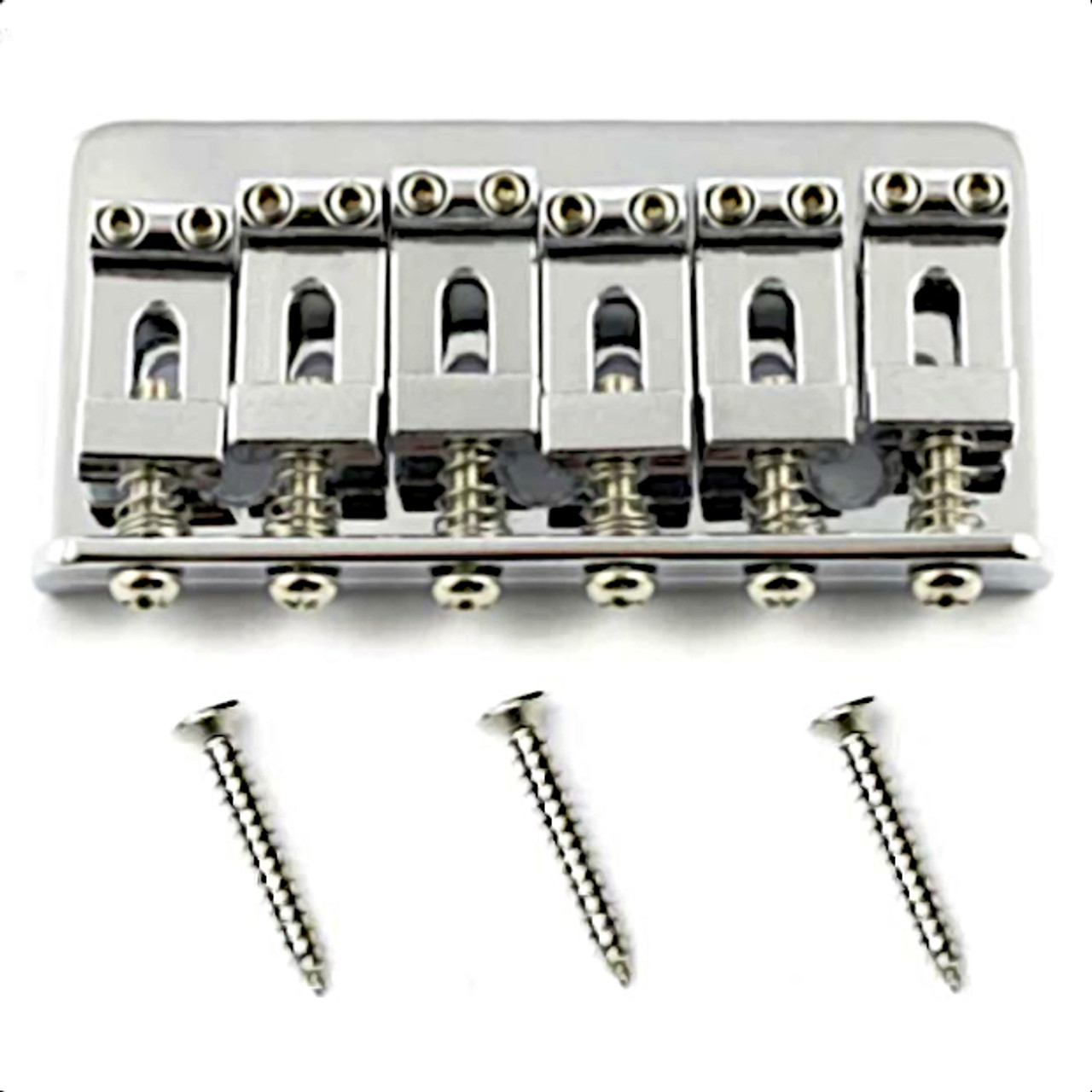 Non Tremolo Hardtail Bridge for Stratocaster-Chrome