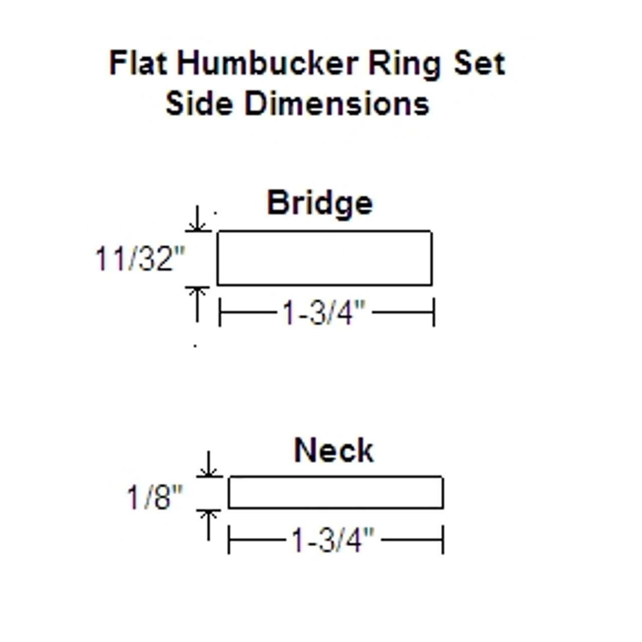 Humbucker Ring Set-Flat w/ Flat Bottoms-Black