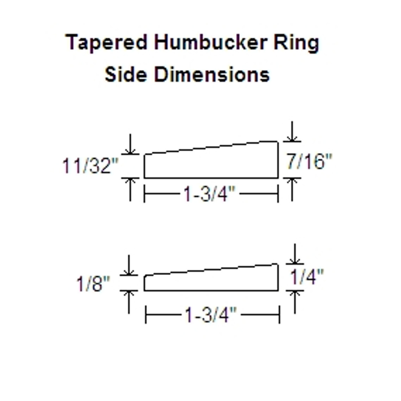 Humbucker Ring Set-Tapered w/ Curved Bottoms-Cream