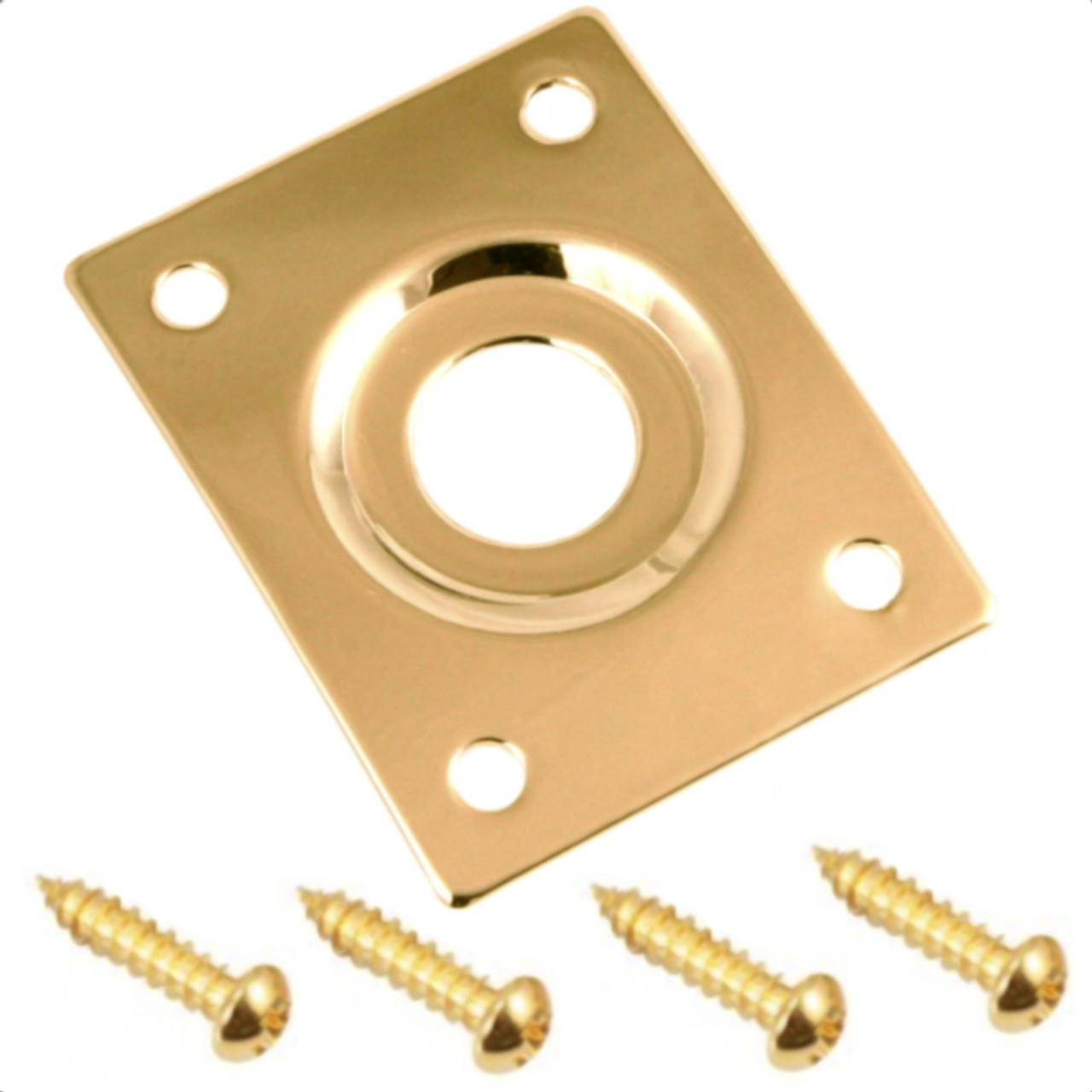 Rectangular Metal Jack Plate-Gold