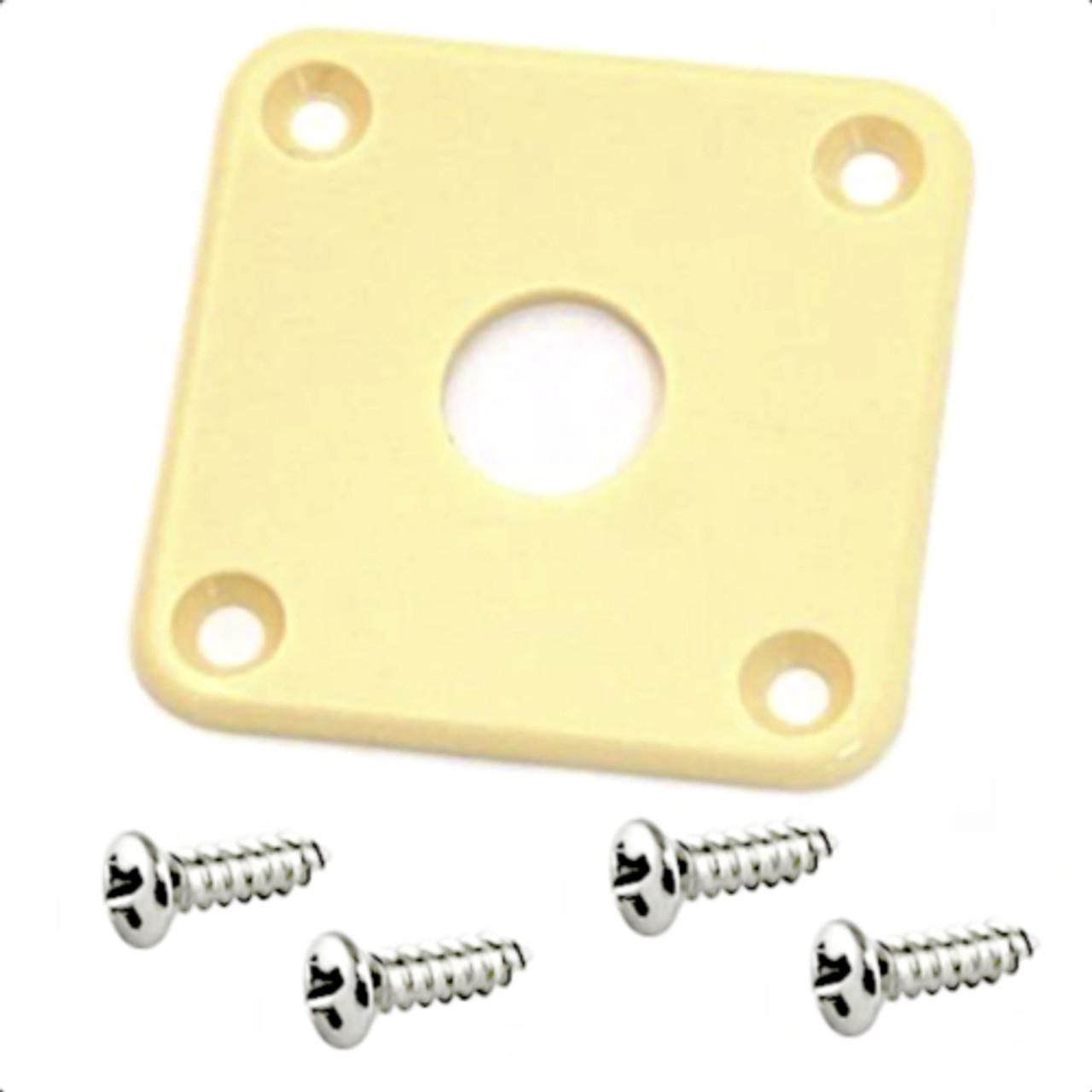 Gibson Style Plastic Jack Plate w/ Screws-Cream