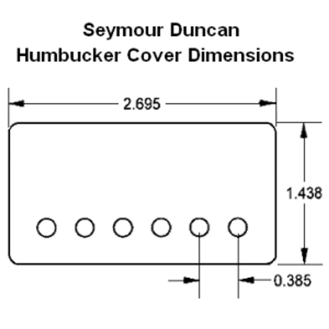 Seymour Duncan Metal Pickup Cover - Nickel