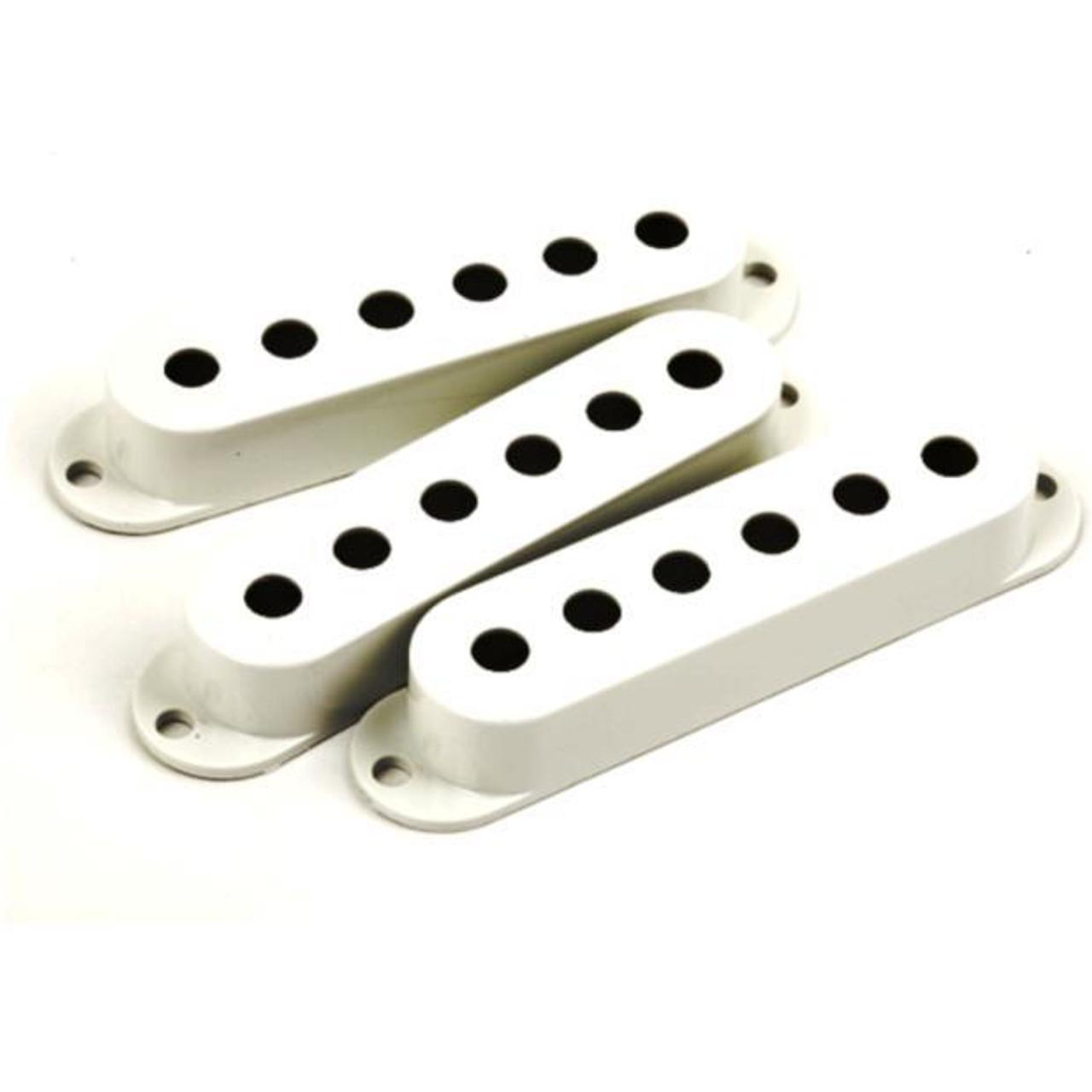 Fender Stratocaster Single Coil Pickup Covers-White