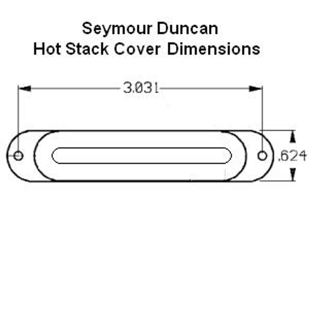 Seymour Duncan Hot Stack Pickup Cover-White No Logo