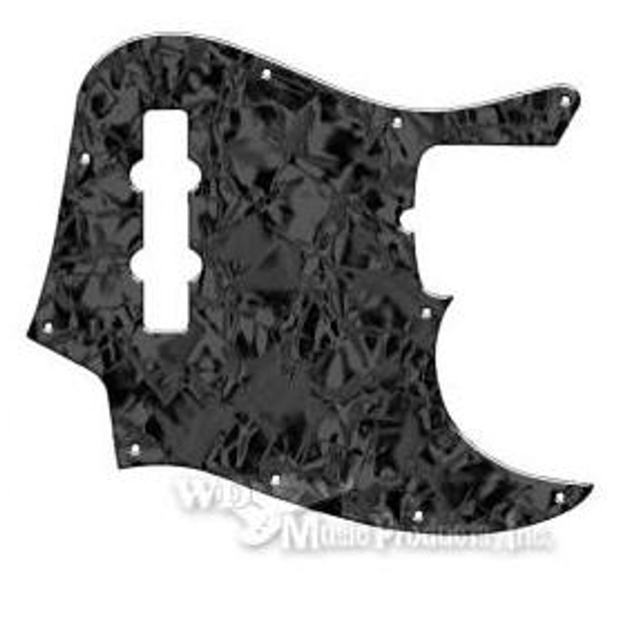 American Standard Jazz Bass Pickguard-3Ply Black Pearl