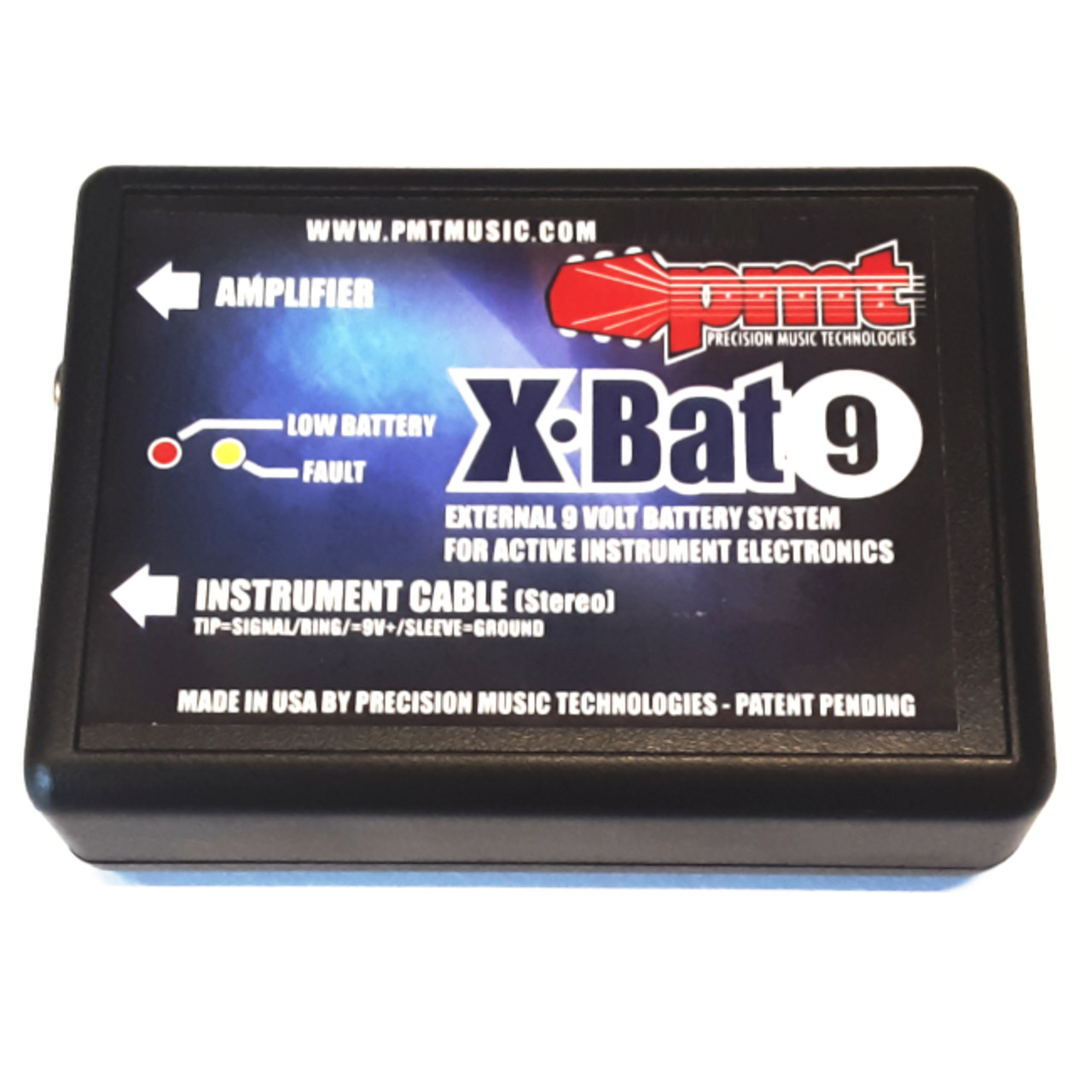 X-Bat Pack External Battery System for Active Guitar & Bass Electronics-
