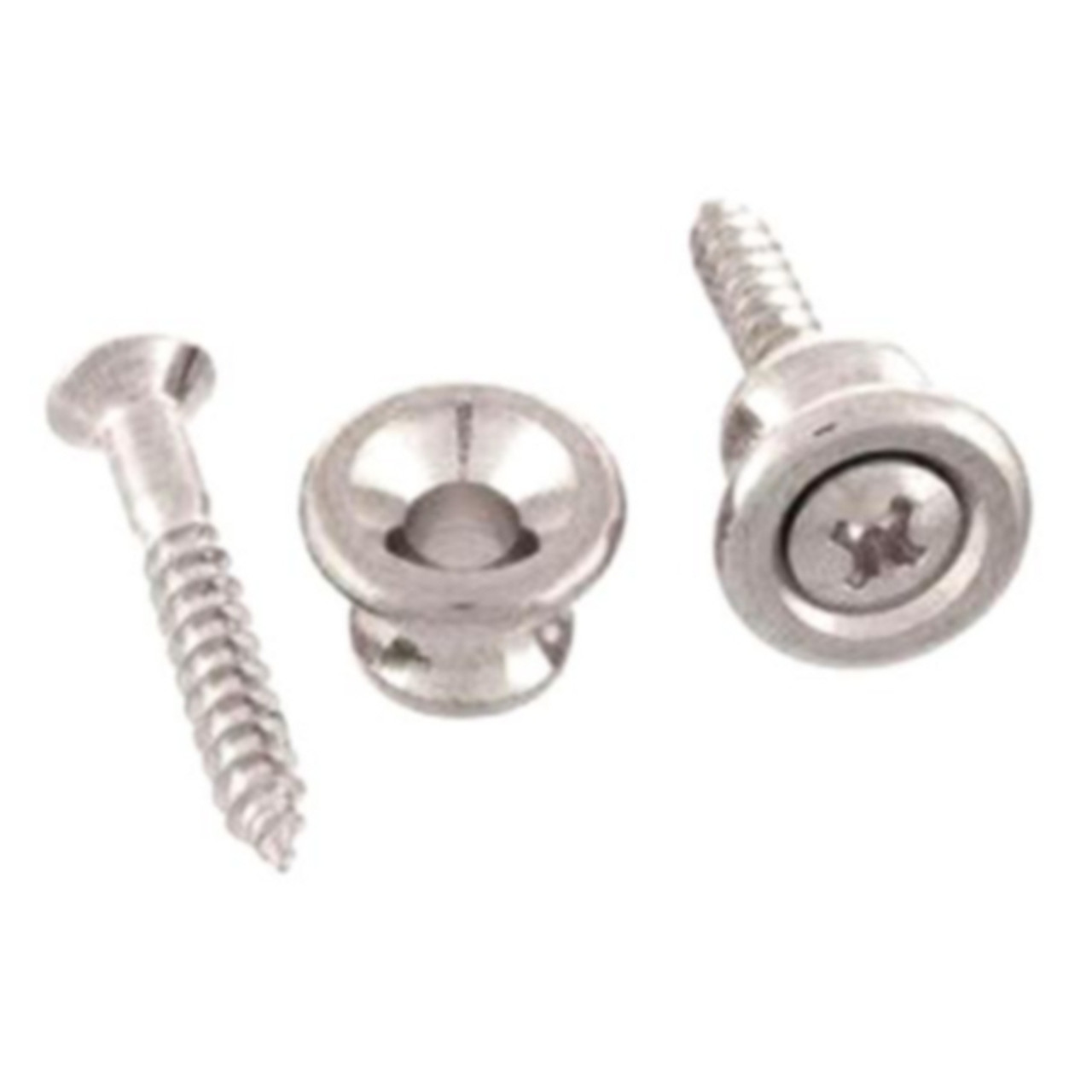 Gibson Style Strap Button Set (2) Nickel