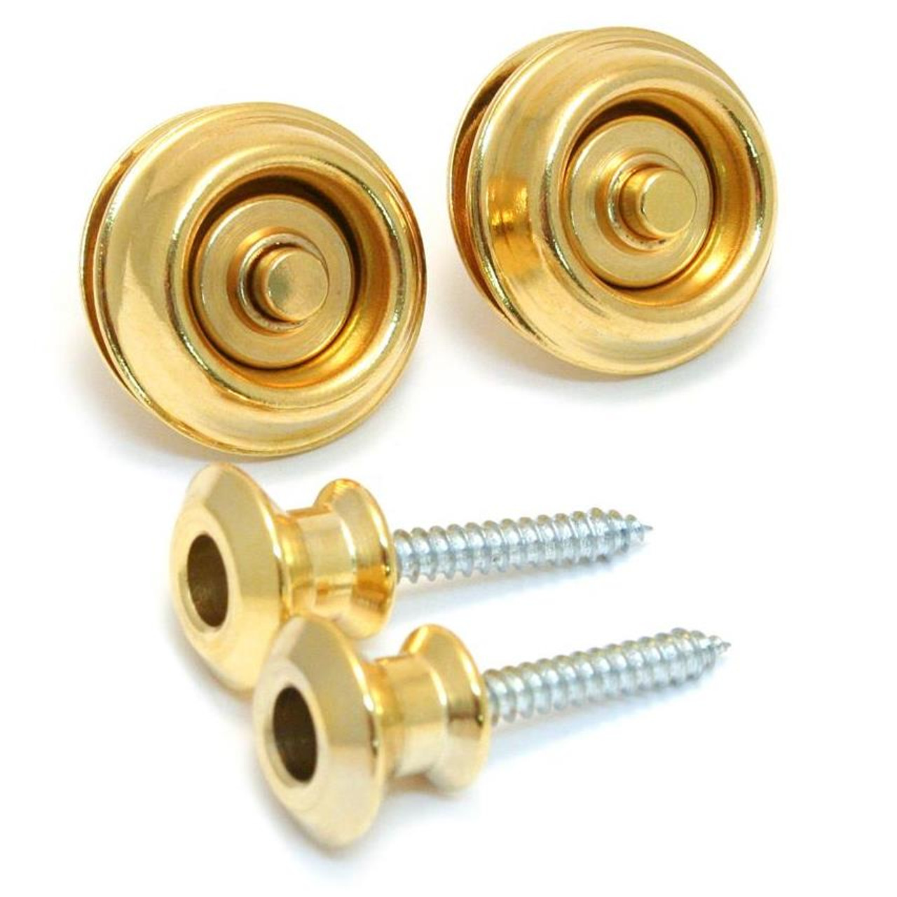 Dunlop Dual Design Strap Lock System-Gold