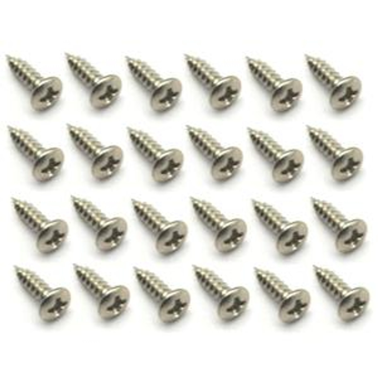Pick Guard & Cover Plate Screws-Large/Nickel