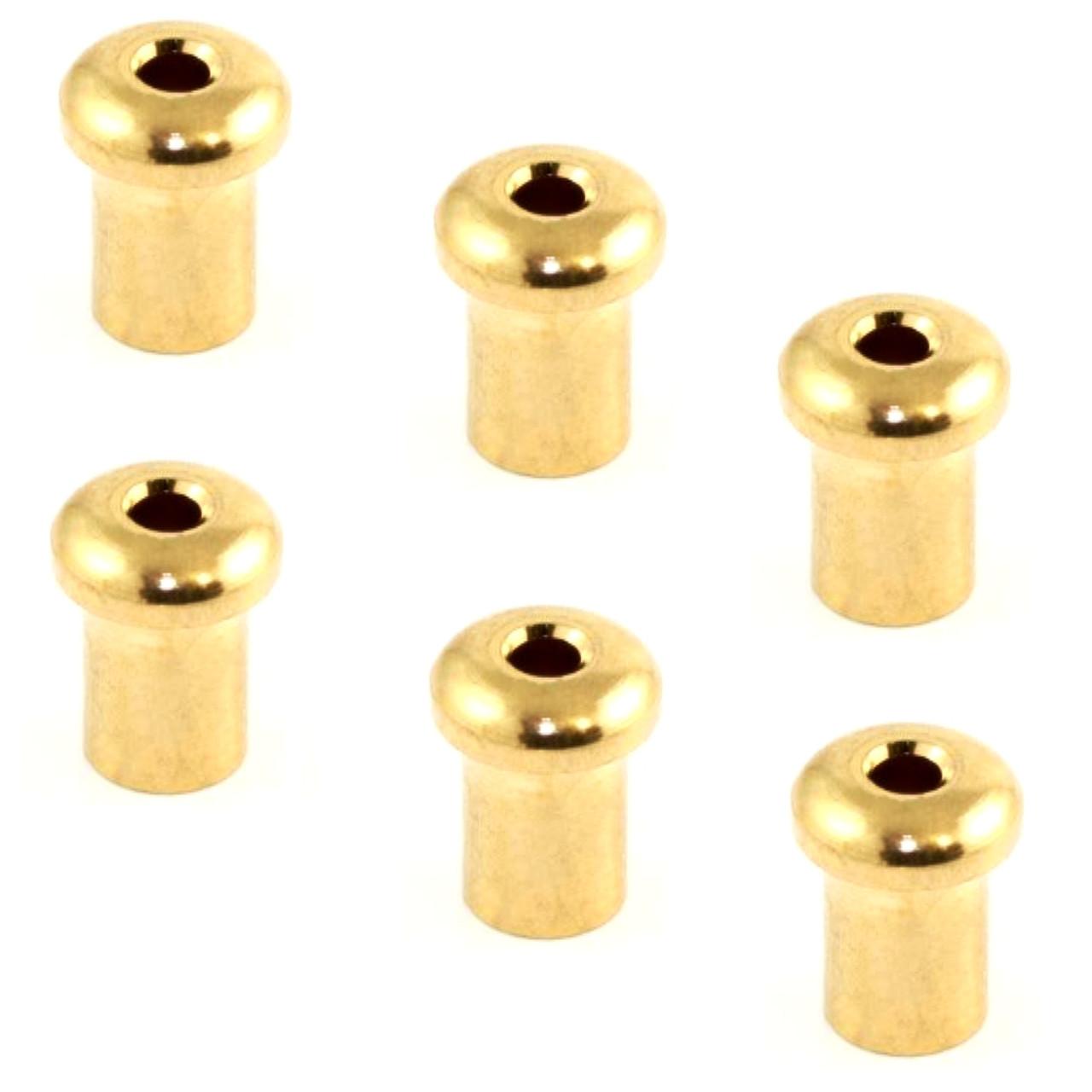 Guitar Top String Ferrules (6) Gold