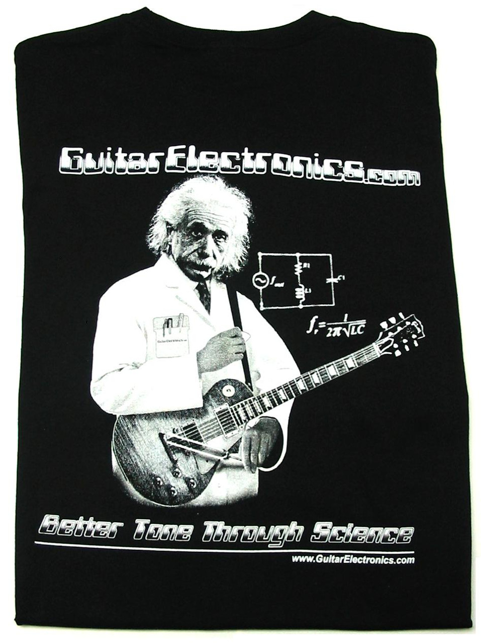 Guitar Electronics Einstein Logo T-Shirt BACK