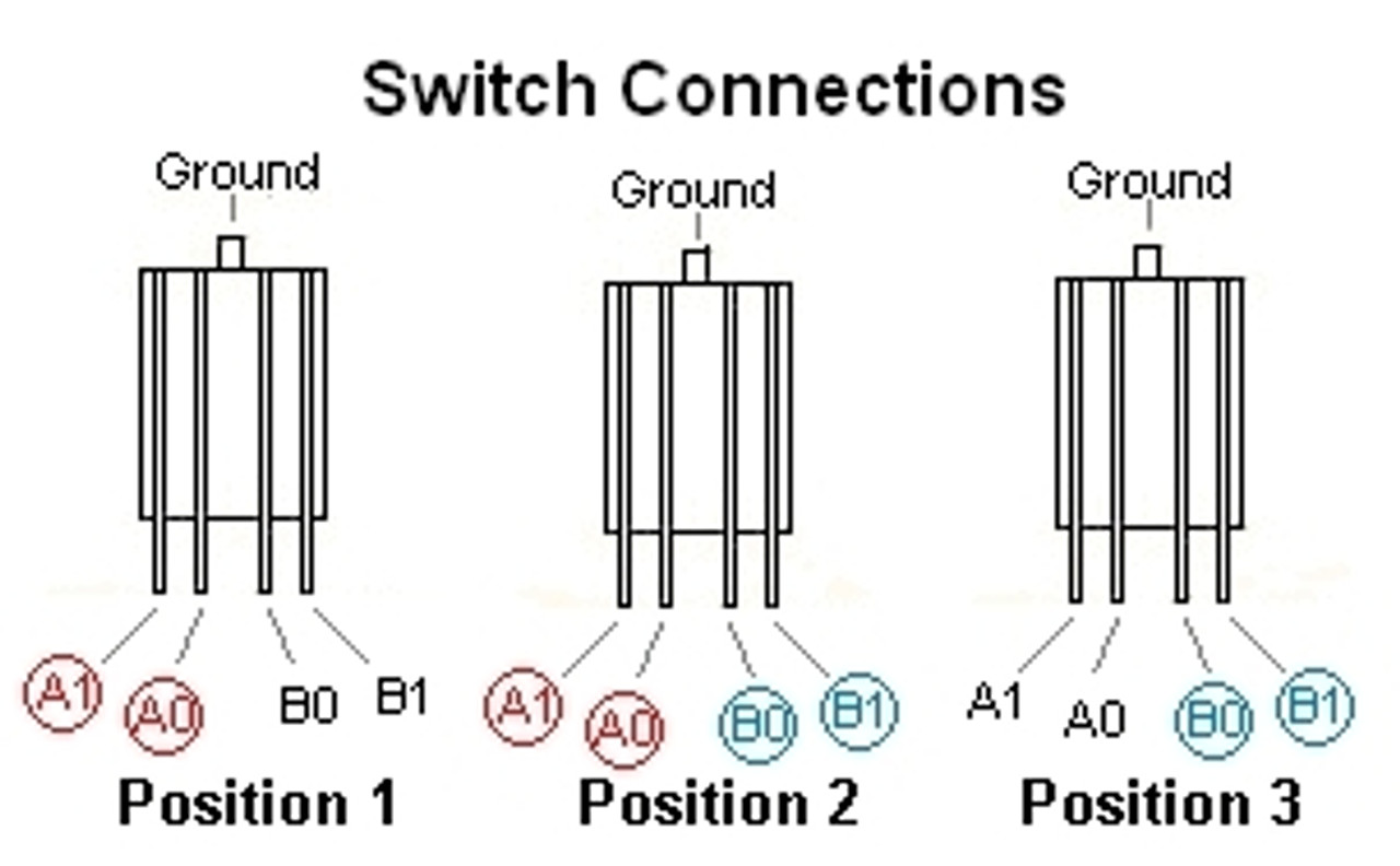 3-Way Guitar Toggle Switch-Terminal Connections.