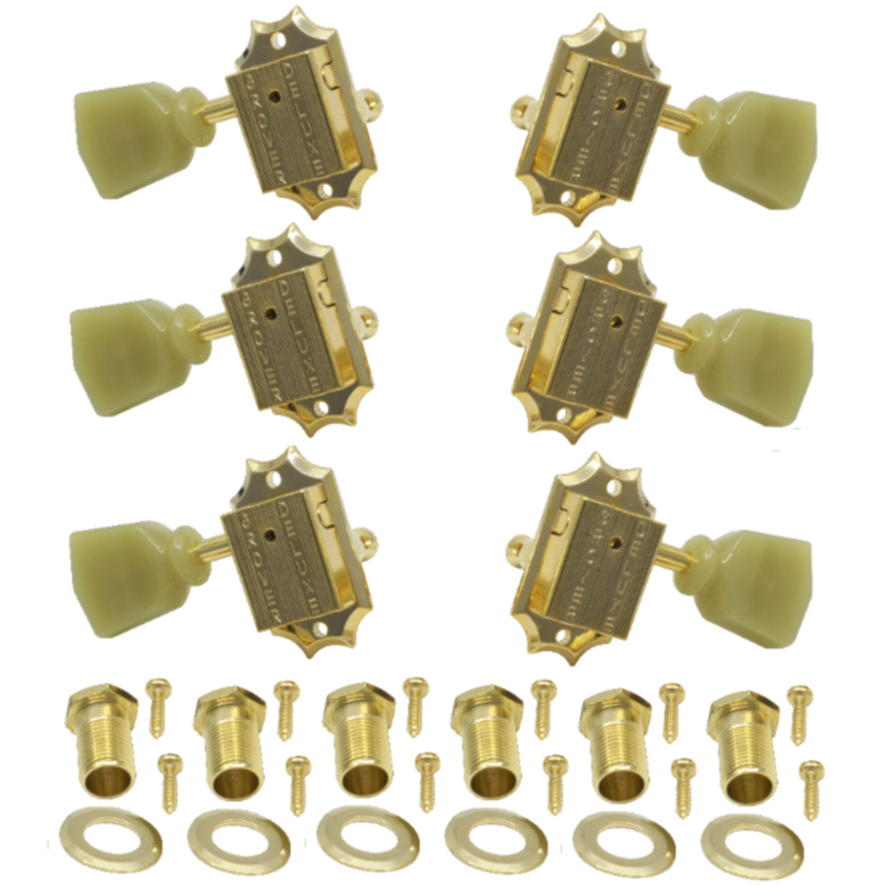 Grover Deluxe 135 Series Gibson Style 3x3 Guitar Tuning Keys-Gold