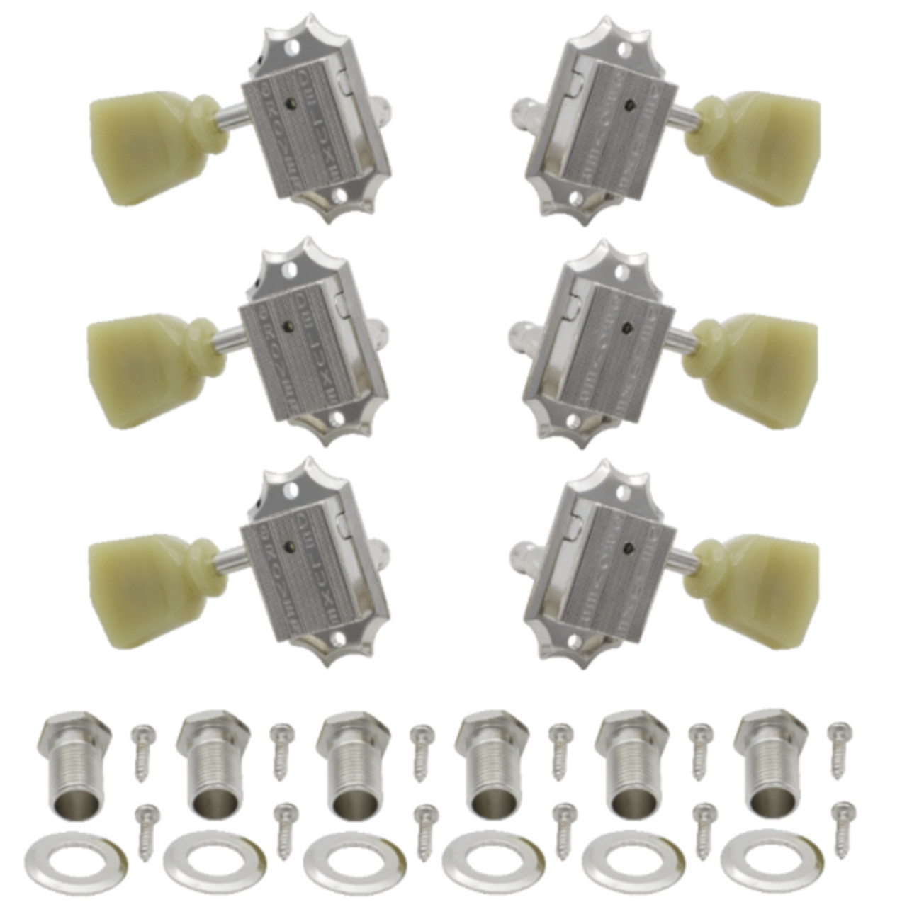 Grover Deluxe 135 Series Gibson Style 3x3 Guitar Tuning Keys-Nickel