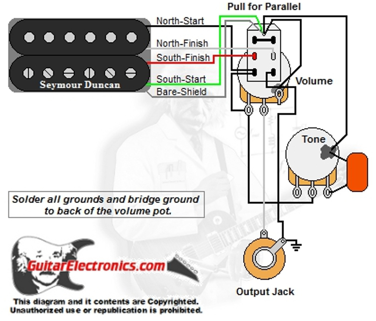 [SCHEMATICS_4ER]  1 Humbucker/1 Volume/1 Tone/Series-Parallel | 1 Humbucker Strat Wiring Diagram |  | Guitar Electronics