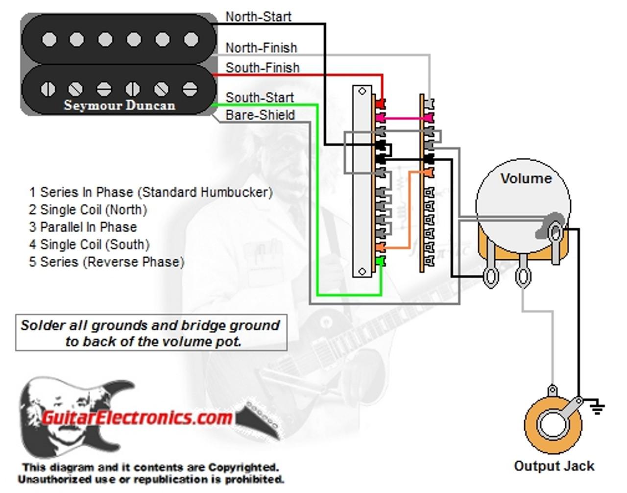 1 humbucker 1 volume 5 way lever switchGuitarelectronicscom Guitar Wiring Diagram 1 Humbucker 1 Volume #7