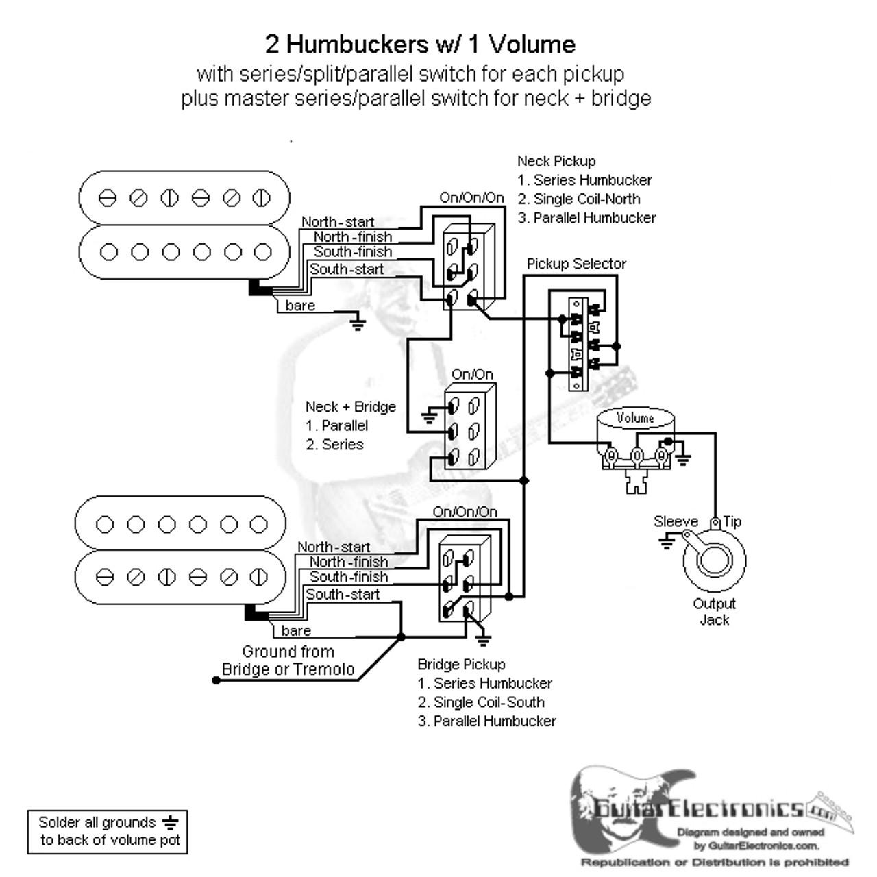 2 hbs 3 way lever 1 vol series split parallel \u0026 master series parallelToggle Switch 1 Volume Seriessplitparallel Master Seriesparallel #7