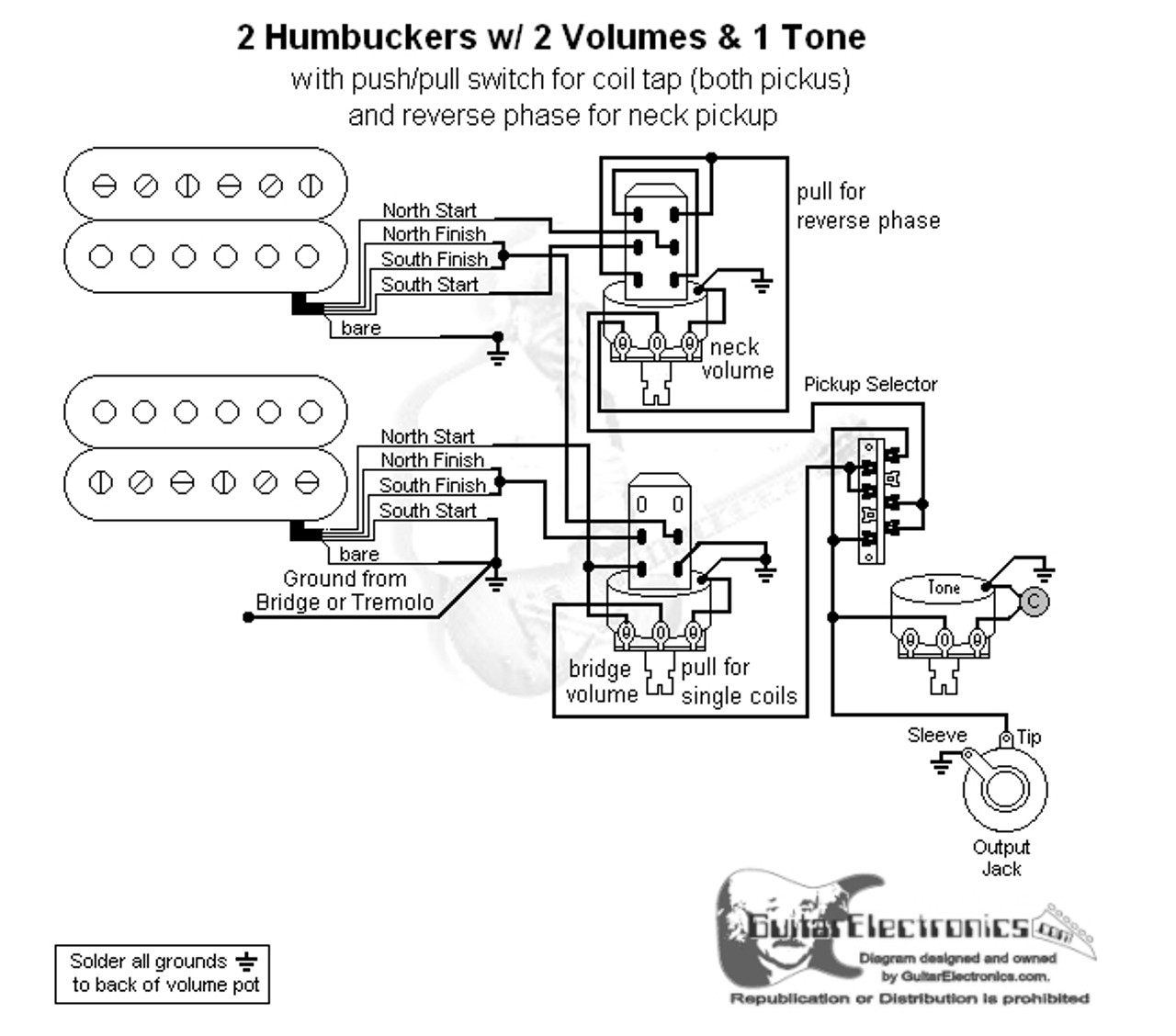 2 hbs 3 way lever 2 vol 1 tone coil tap \u0026 reverse phaseHumbuckers 3way Toggle Switch 1 Volume 1 Tone Coil Tap Reverse #6
