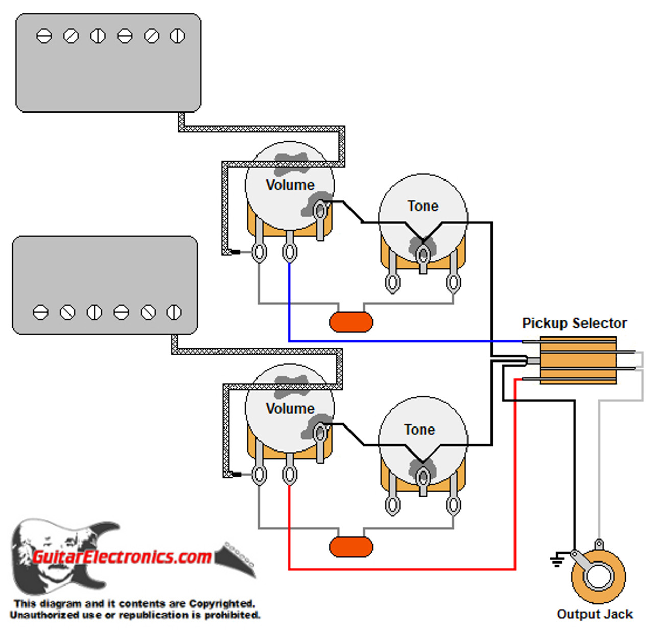 Diagram Wiring Diagram 2 Gibson Humbuckers With 3 Way Toggle Switch