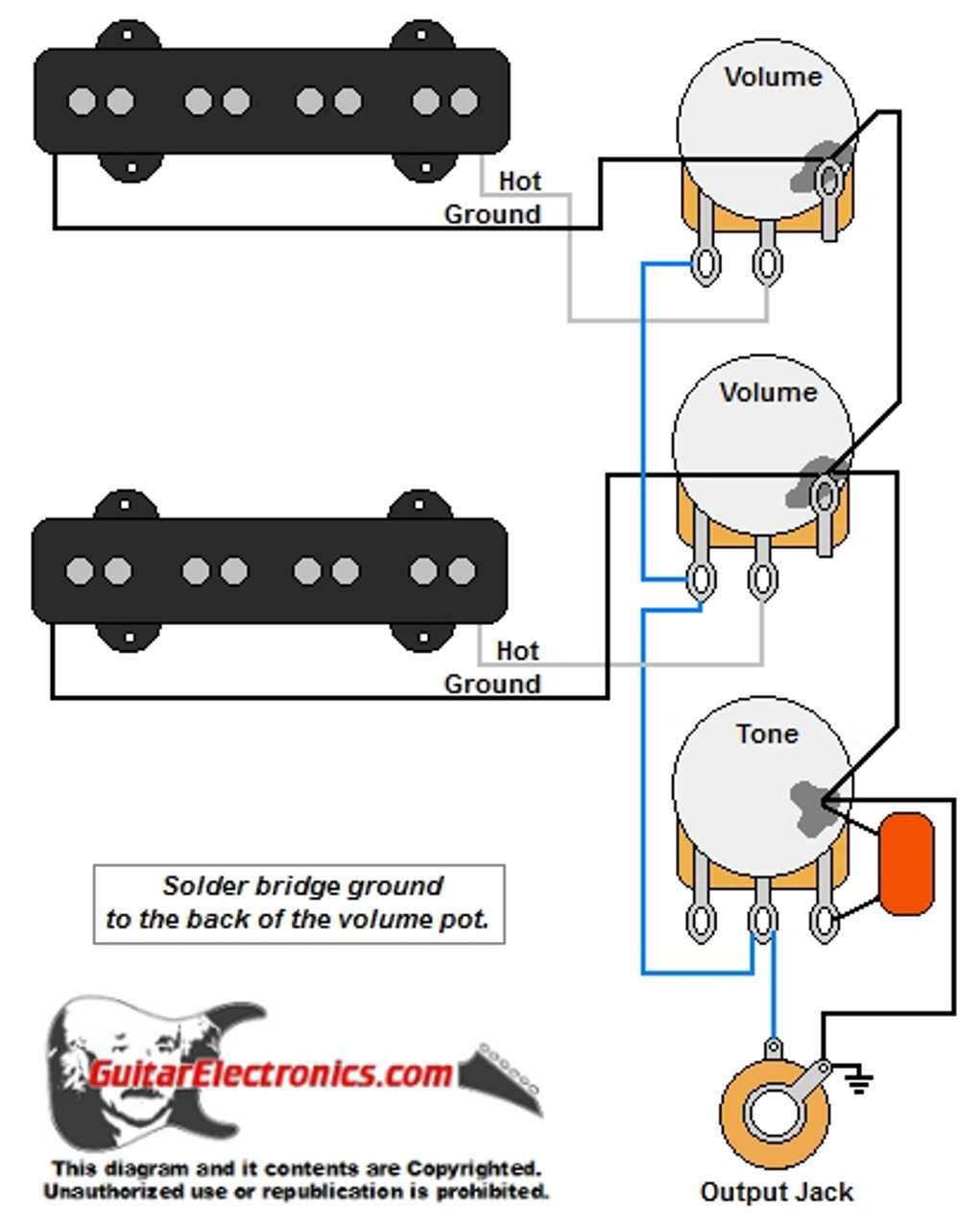 [DIAGRAM_5FD]  Jazz Bass Style Wiring Diagram | Fender Bass Wiring Diagram |  | Guitar Electronics