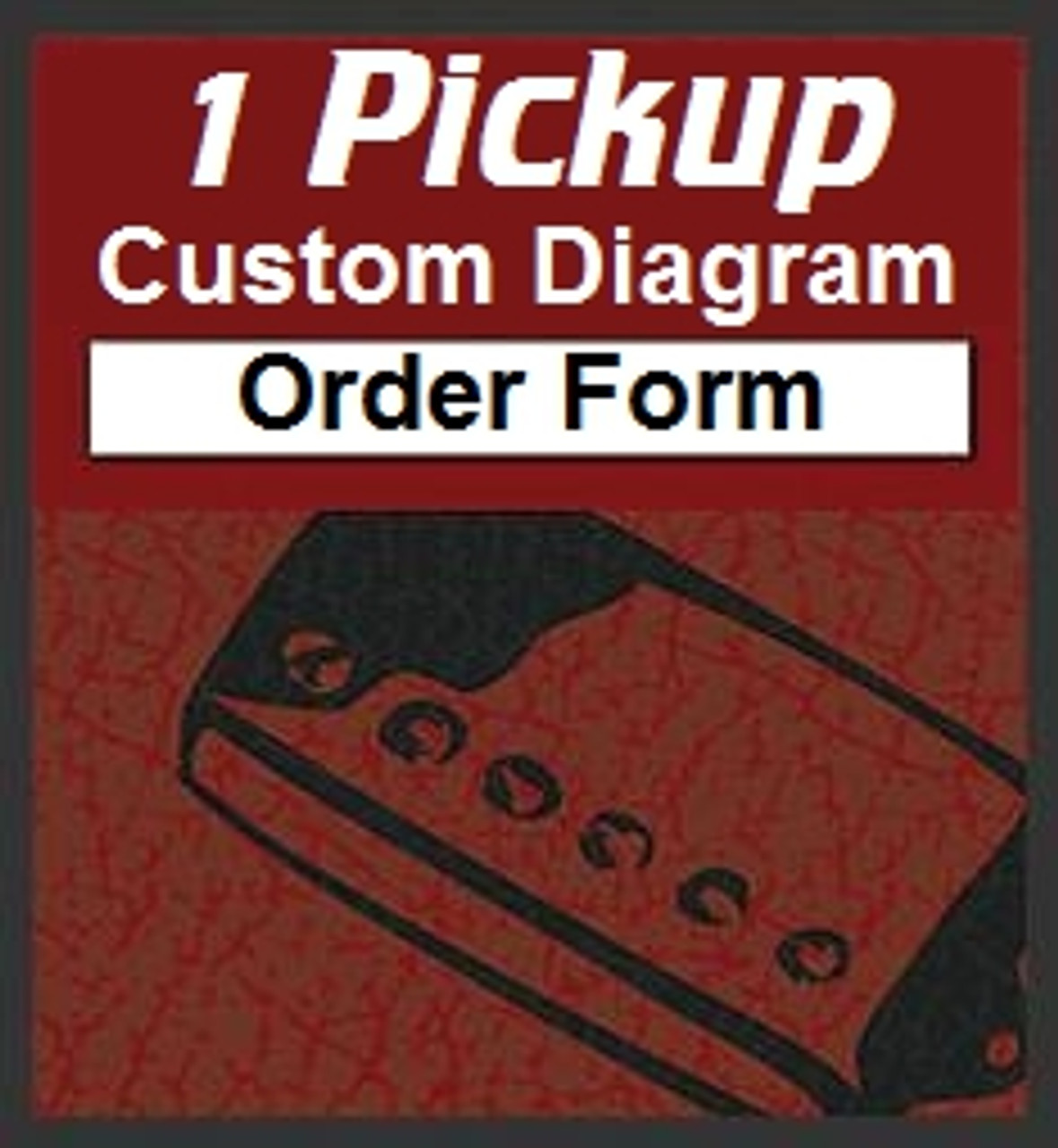 1 Pickup Custom Designed Guitar Wiring Diagrams