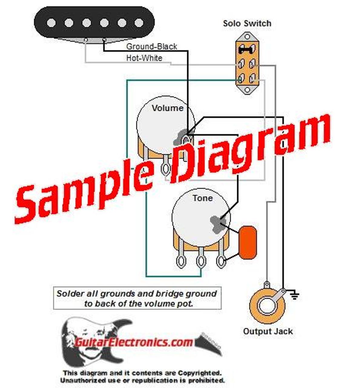 Custom Guitar Wiring Diagram ONE PICKUP