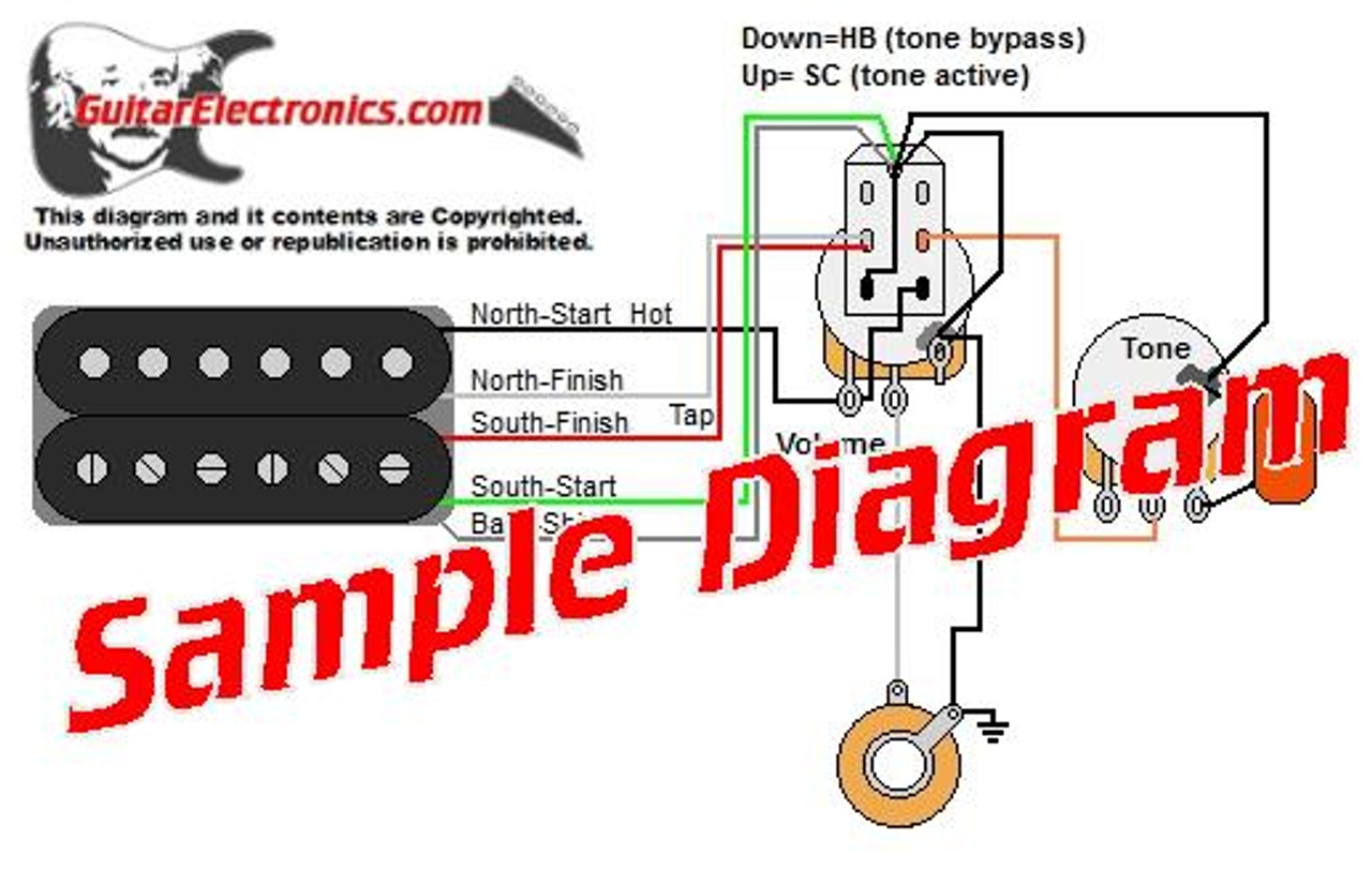 1 pickup custom designed guitar wiring diagrams. Black Bedroom Furniture Sets. Home Design Ideas
