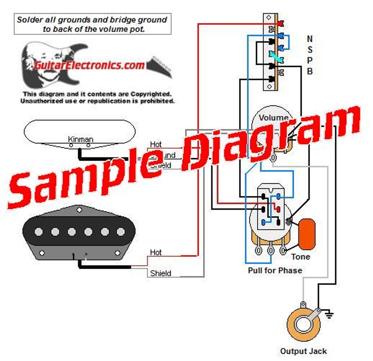 2 Pickup Sample Custom Diagram- 2 Tele Pickups