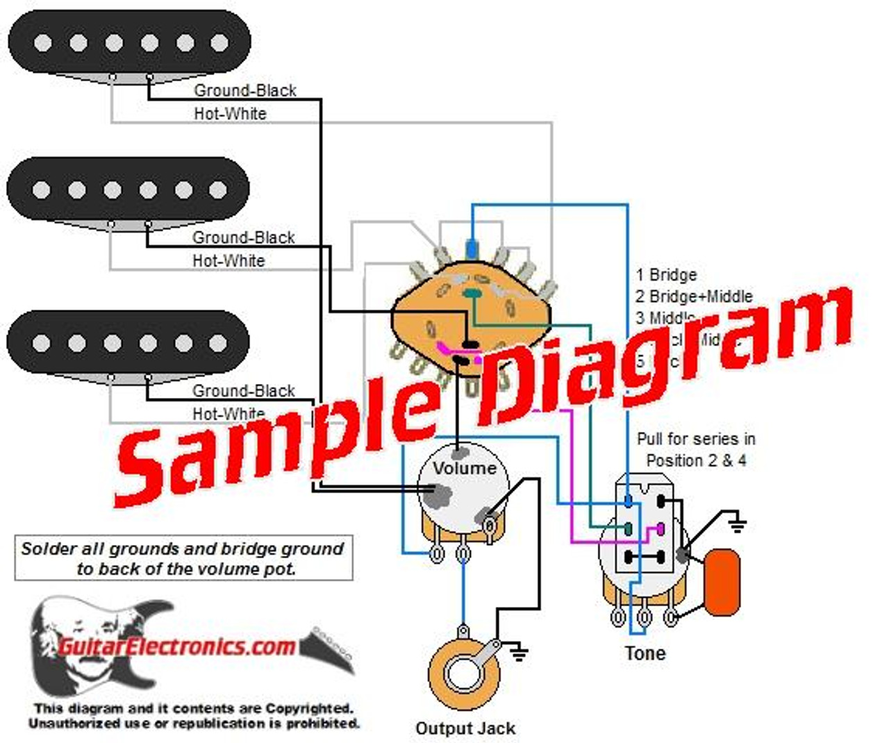 3 Pickup Custom Designed Guitar Wiring Diagrams | Guitar Wiring Diagram Generator |  | Guitar Electronics