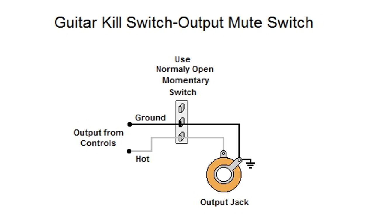 guitar kill switch output mute switch Single Pickup Guitar Wiring Diagram