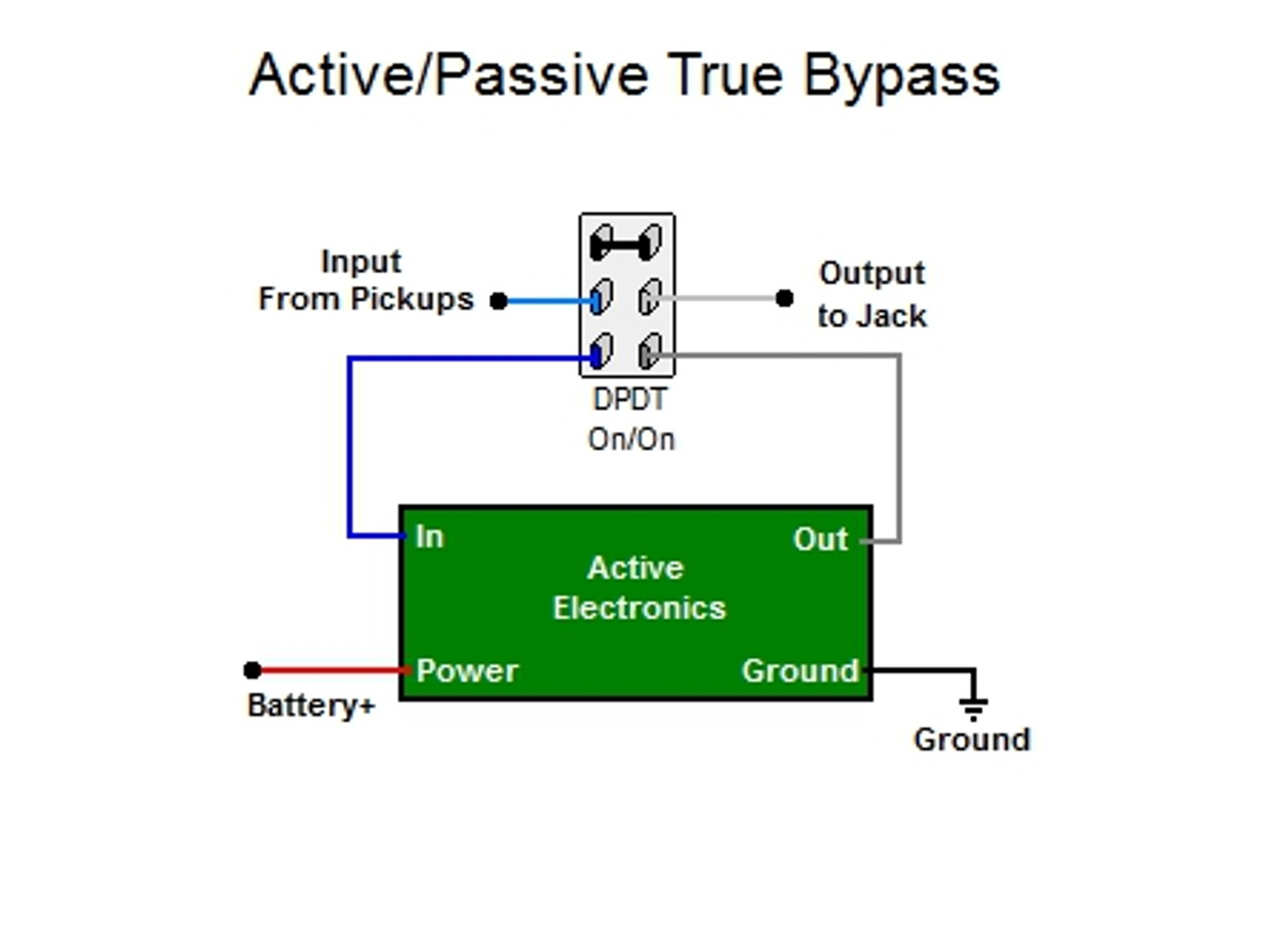active/passive true bypass switch  guitar electronics