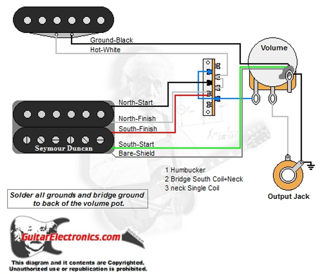 1 humbucker 1 single coil 3 way lever switch 1 volume 01 1 humbucker 1 single coil 3 way lever 1 volume 01