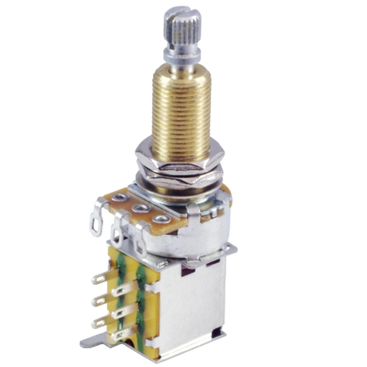 500K Audio Guitar Pot w/ Push-Push Switch-Long Shaft