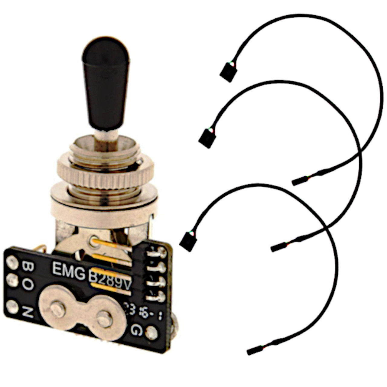 EMG Solderless Toggle Switch w/ Connector Cables
