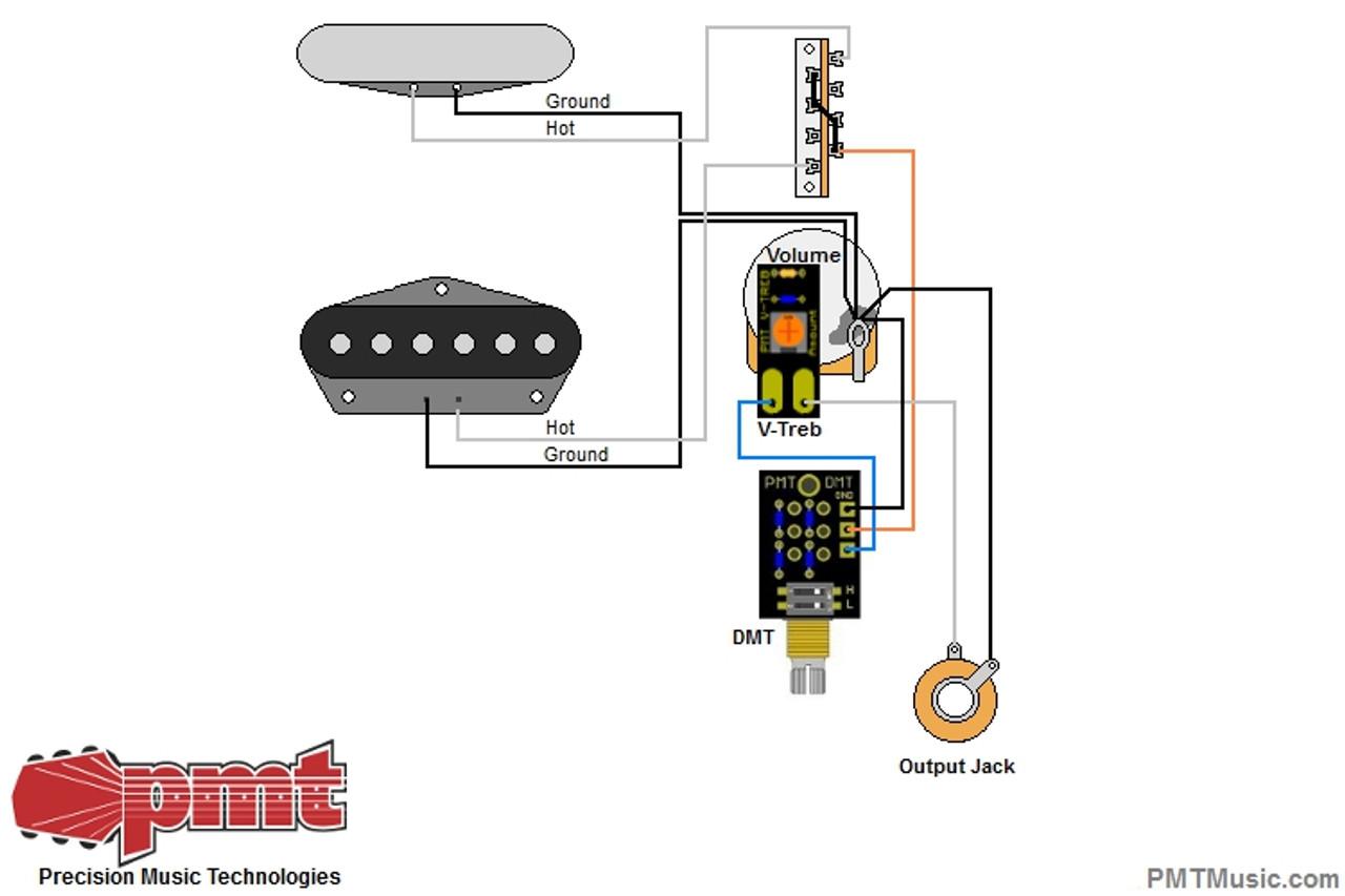 Tele w/ V-Treb Volume & DMT Dual Mode Tone Control