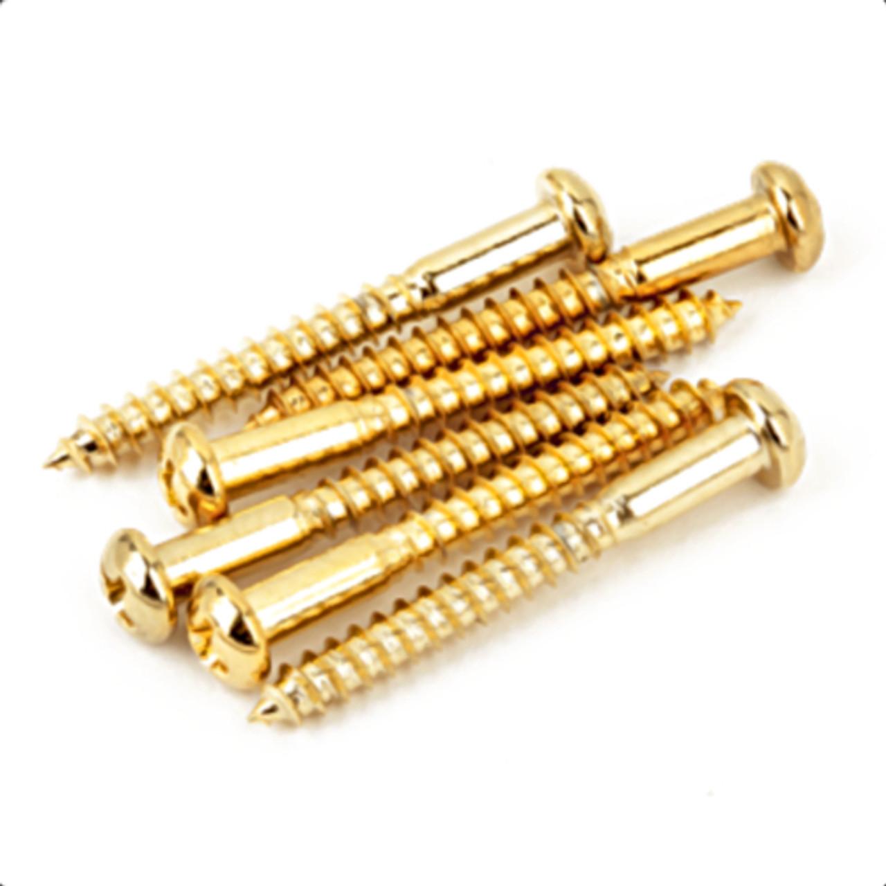 ender Vintage Strat Tremolo Bridge Mounting Screws-Gold