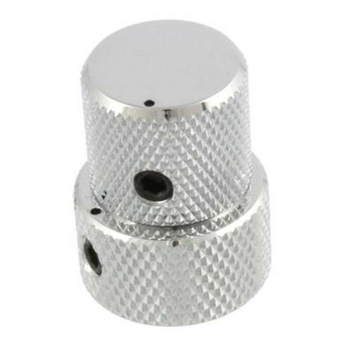 Stacked Metal Flat Top Knob for Guitar & Bass-Chrome